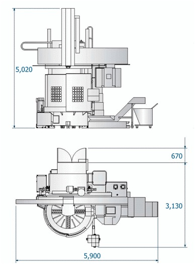 Габариты станка Ral-12