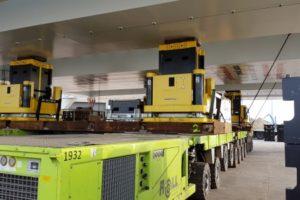 Замена настила моста в порту Антверпена с использованием подъемной системы 3