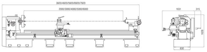 Габариты Универсально-токарные корейские станки серии G.O.M.T. NARA серия 900