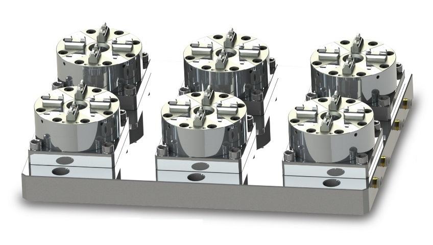 Пневматические патроны в токарных станках с ЧПУ