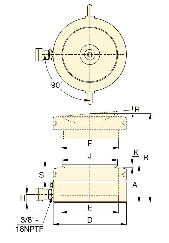Низкопрофильные цилиндры одностороннего действия со стопорной гайкой Серия LPL