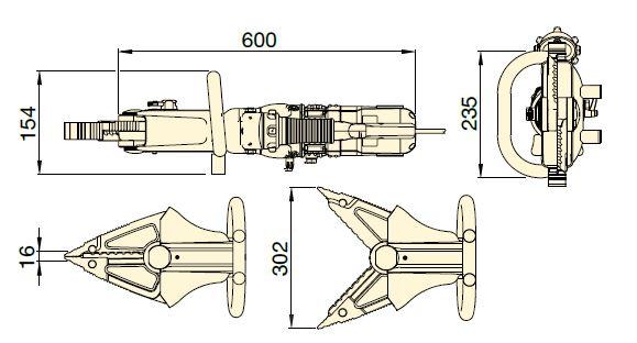 размеры резаки ECSE