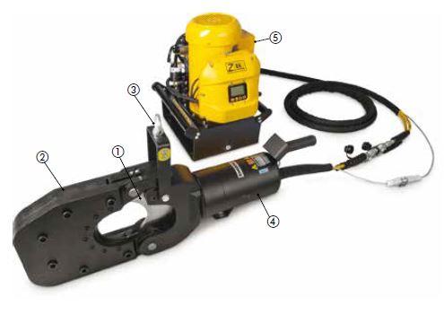 Гидравлические резаки для тросов и кабелей серии EWCH